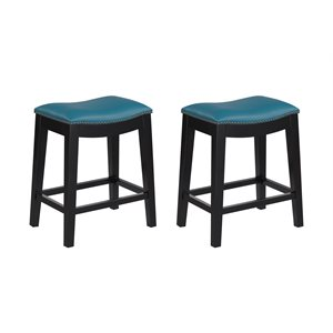 2PK 24'' BAR STOOL - TEAL