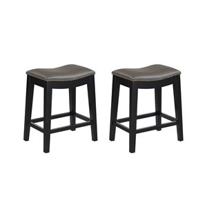 2PK 24'' BAR STOOL - GREY