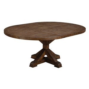"CHAMBERS CREEK - COMPLETE ROUND TABLE DINING TABLE W / 20"" LEAF"