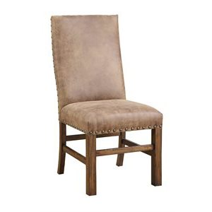 UPHOLSTERED SIDE CHAIR W / NAILHEAD TRIM