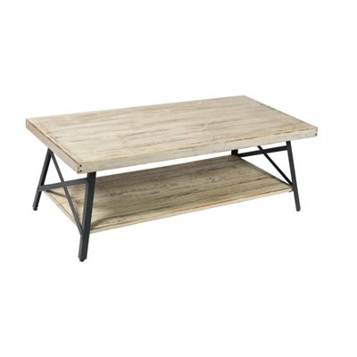 COCKTAIL TABLE-WHITE WASH