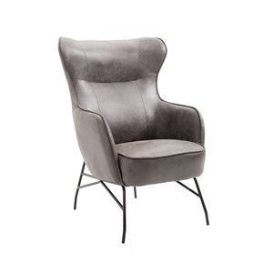 ACCENT CHAIR-CHARCOAL