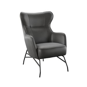 ACCENT CHAIR-BLACK