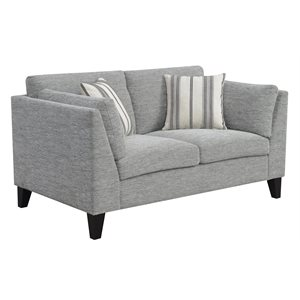 LOVESEAT W / 2 ACCENT PILLOWS-GRAY