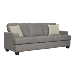 SOFA W / 2 PILLOWS-LIGHT GREY