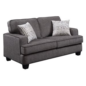 LOVESEAT W / 2 PILLOWS-INK GREY
