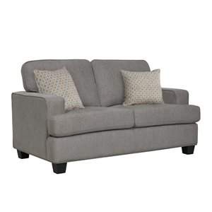 LOVESEAT W / 2 PILLOWS-LIGHT GREY