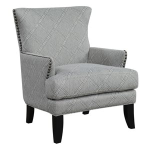 ACCENT CHAIR-GREY MULTI