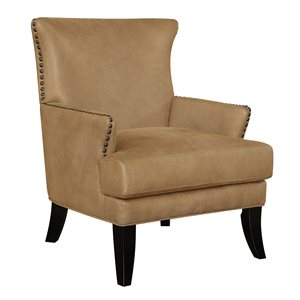 ACCENT CHAIR-LIGHT BROWN