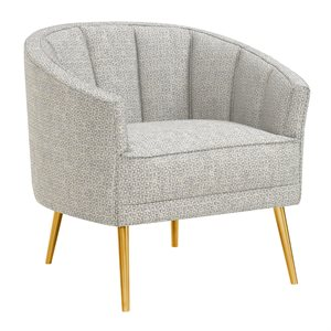 ACCENT CHAIR-BLUE / GOLD LEG