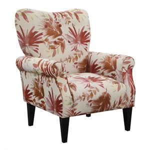 ACCENT CHAIR-RED MULTI