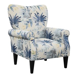 ACCENT CHAIR BLUE MULTI
