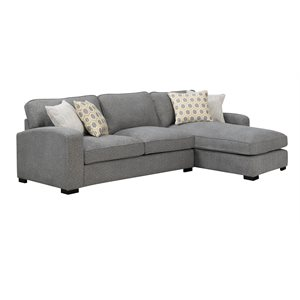 REPOSE-2PC CHOFA-LSF LOVESEAT RSF CHAISE-LIGHT GREY