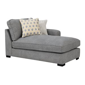 RSF CHAISE W / 2 PILLOWS-LIGHT GREY
