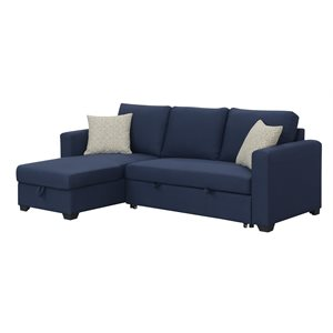 LANGLEY-2PC CHOFA W / 2 PILLOWS-NAVY