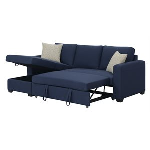 PULLOUT POPUP SLEEPER W / 1 PILLOW-NAVY