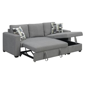 PULLOUT POPUP SLEEPER W / 1 PILLOW-GREY