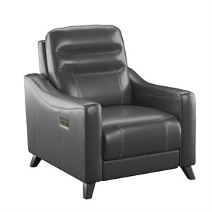POWER RECLINER W / POWER HEADREST-GREY