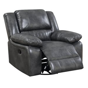 SWIVEL GLIDER RECLINER-GREY