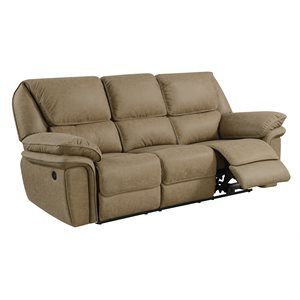 POWER SOFA W / USB POWER OUTLET-LIGHT BROWN
