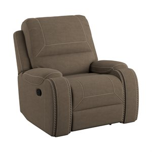 SWIVEL RECLINER - BROWN