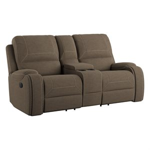MOTION LOVESEAT W / CONSOLE & USB - BROWN
