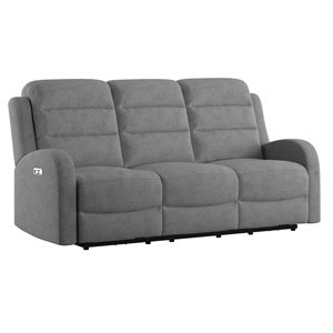 POWER SOFA W / 2 POWER HEADREST - GREY