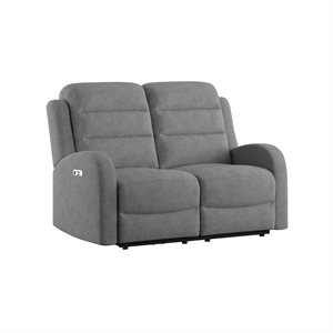 POWER LOVESEAT W / 2 POWER HEADREST - GREY