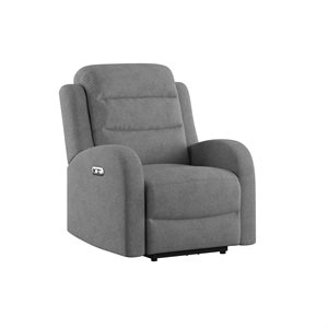 POWER RECLINER W / 1 POWER HEADREST - GREY
