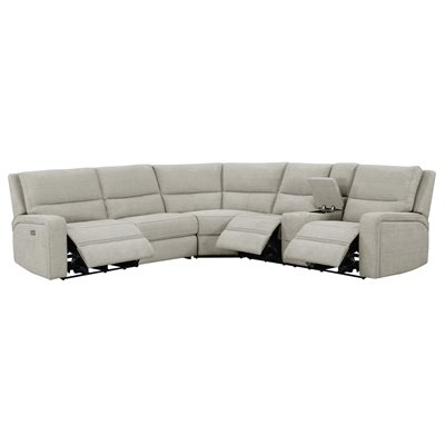 MEDFORD-3PC 3-POWER RECLINING SECTIONAL - TAN