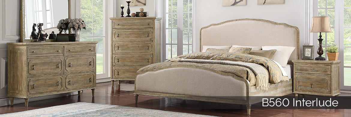B560 Interlude French Country Upholstered bedroom collection